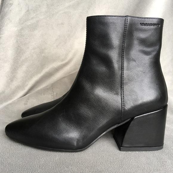 e36e2cc11db Vagabond Olivia Black Leather Heeled Ankle Boots. M_5b953237c89e1d8fae711f7d